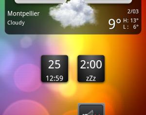 Exemple de widget android
